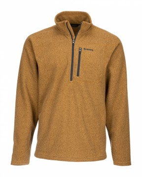 Simms Rivershed Quarter Zip Dark Bronze