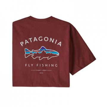 Patagonia Men's Framed Fitz Roy Trout Responsibili-Tee oxide red