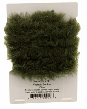 Semperfli synthetic rabbit zonker - olive