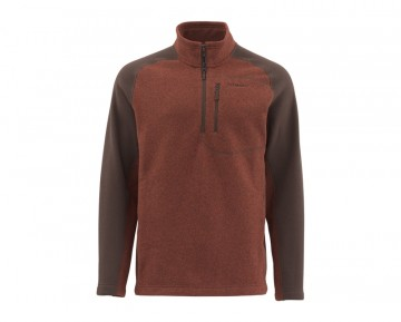 Simms Rivershed Sweater QuarterZip Rusty Red
