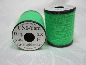 UNI Yarn fluor green highlander