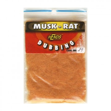 Muskrat dubbing 29 Light Rusty