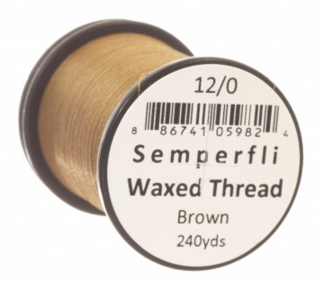 Semperfli bindetråd Classic Waxed 12/0 brown