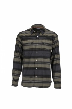 Simms Gallatin Flannel Shirt Carbon Stripe