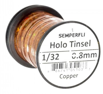 Semperfli holographic tinsel copper