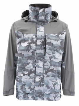 Simms Challenger Jacket Hex Flo Camo Grey Blue