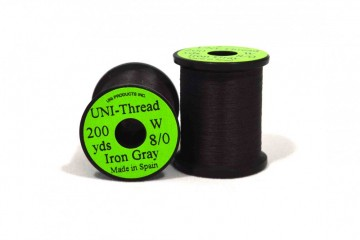 UNI bindetråd 8/0 iron gray