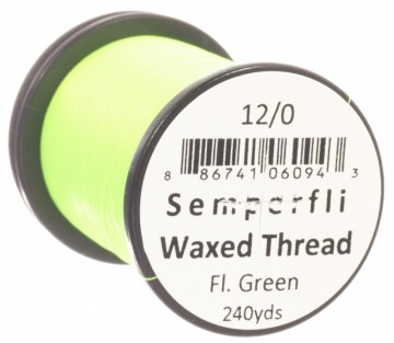 Semperfli bindetråd Classic Waxed 12/0 fluoro green