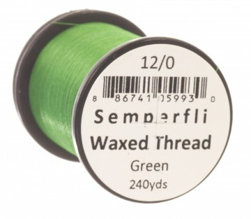 Semperfli bindetråd Classic Waxed 12/0 green