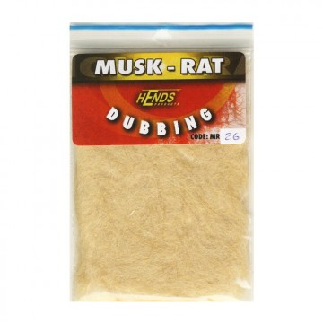 Muskrat dubbing 26 Light Beige