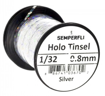 Semperfli holographic tinsel silver