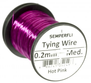 Semperfli wire 0.2 mm Hot Pink
