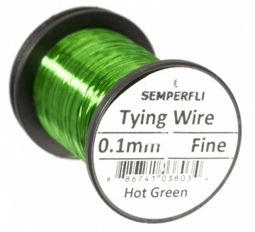 Semperfli Ultrafine 0.1mm Wire Thin Hot Green