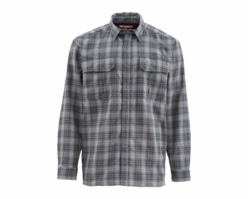Simms Coldweather Shirt Black Plaid UTGÅENDE